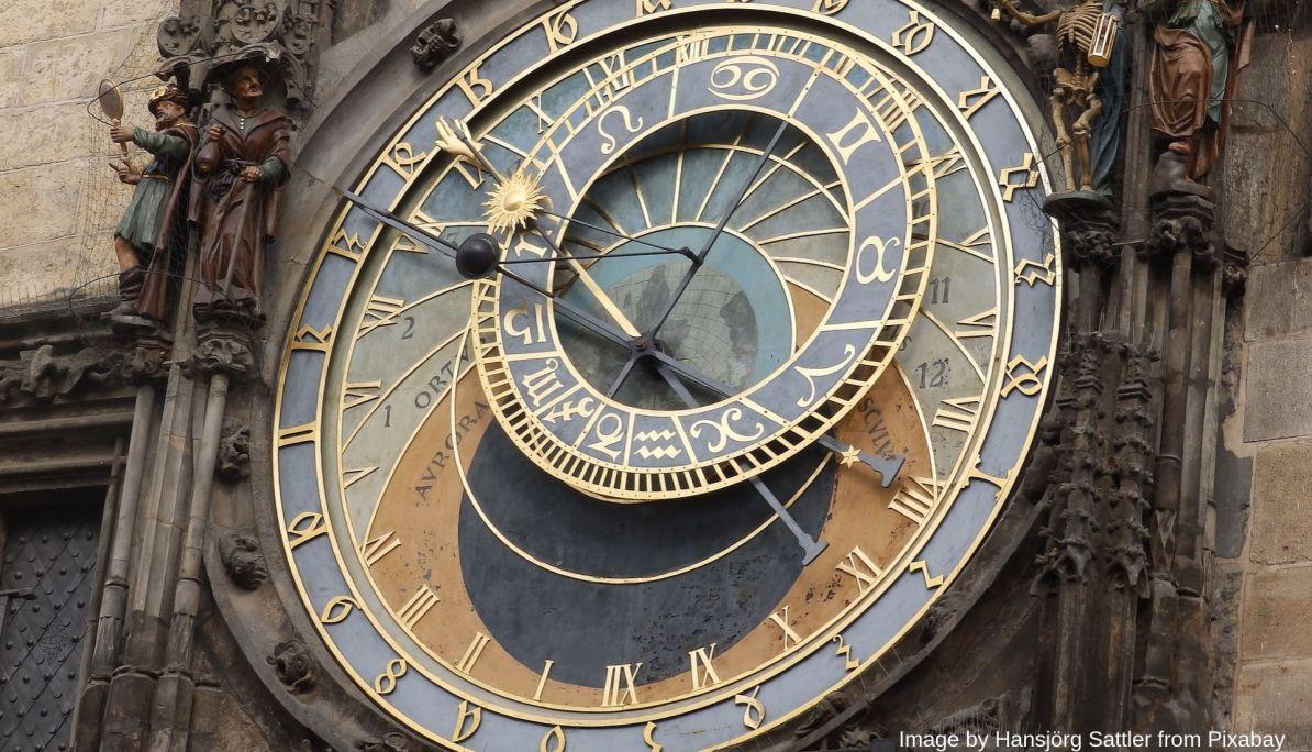The famous astronomical clock face