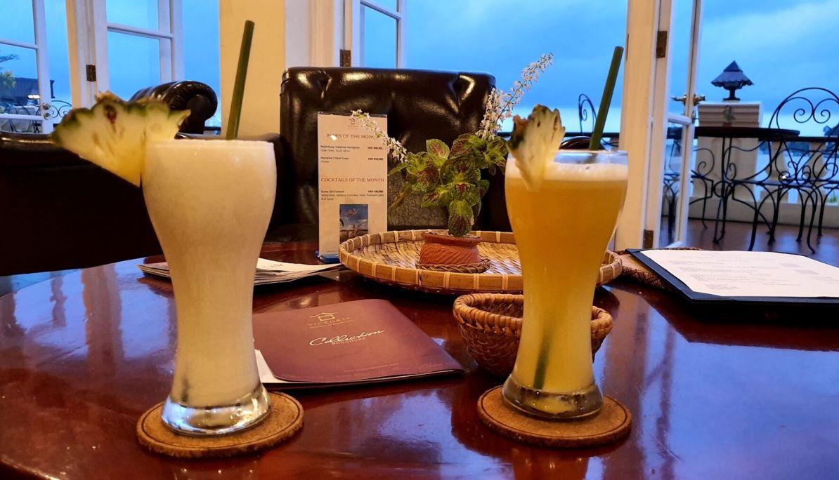 Cocktails at the Tan Chau Bar