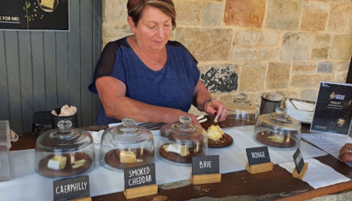 Cheese tasting at High Valley