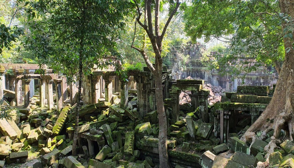 The ruins of Beng Mealea at Angkor Wat