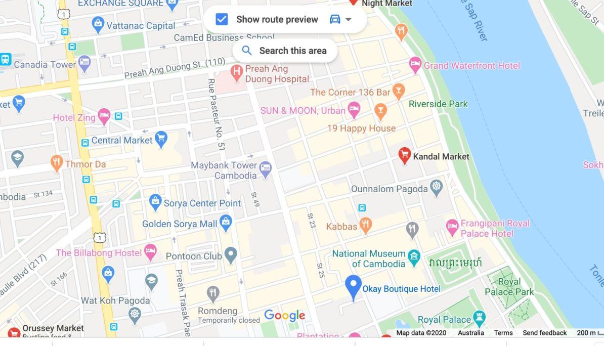 location map of Kandal Market