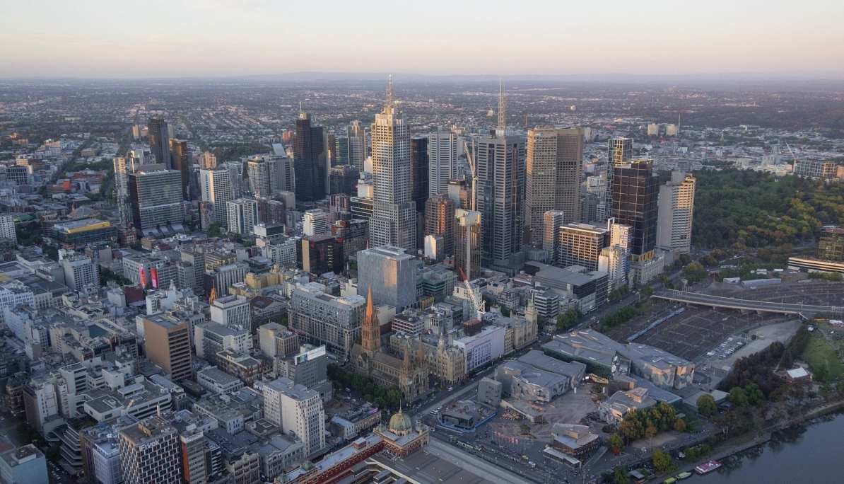 Melbourne from up above