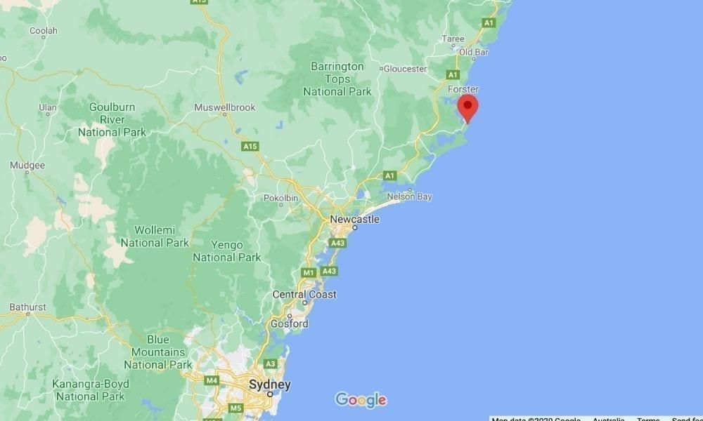 Map Sydney Boomerang Beach