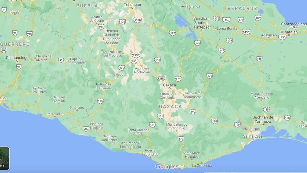 Oaxaca Mexico Map