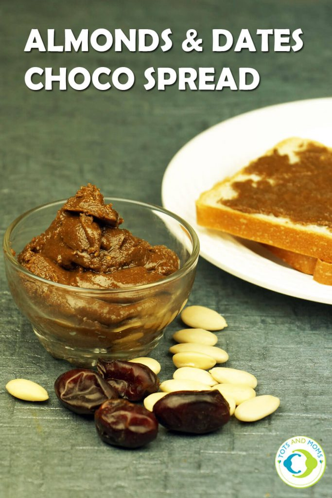 ALMONDS & DATES CHOCO SPREAD for Toddlers, Kids & Family