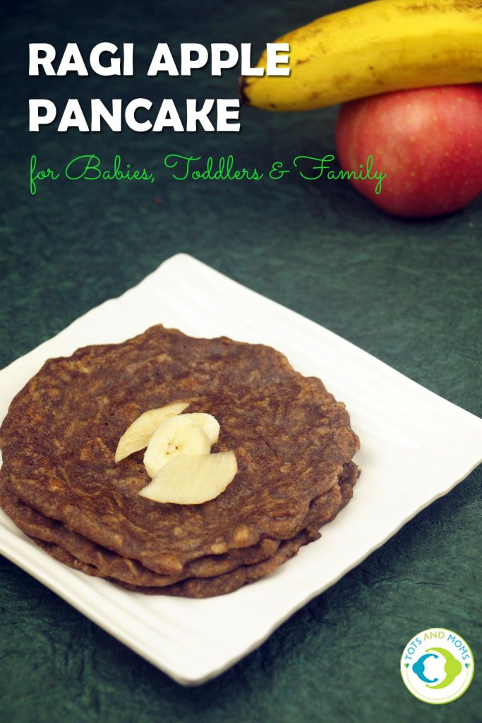 RAGI APPLE PANCAKES for Babies, Toddlers, Kids & Family Benefits of Finger millet