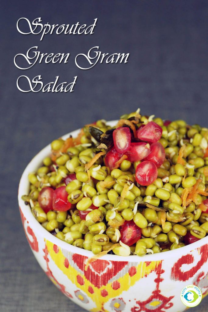 SPROUTED GREEN GRAM SALAD for Toddlers, Kids & Family