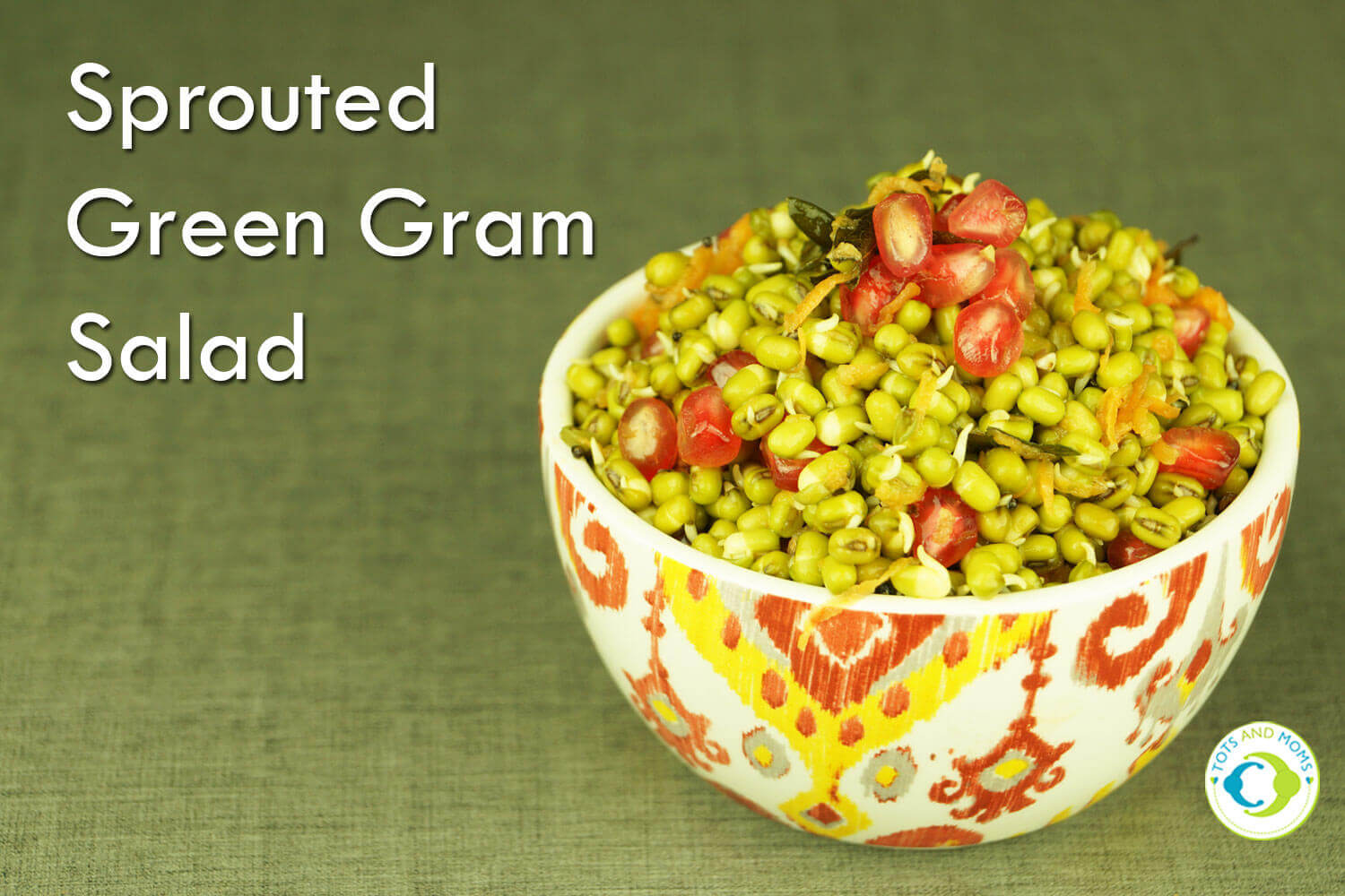 SPROUTED GREEN GRAM SALAD for Toddlers, Kids & Family Easy snacks for moms and family