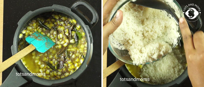 Sweet Corn Pudina Pepper Rice recipe for cough or cold