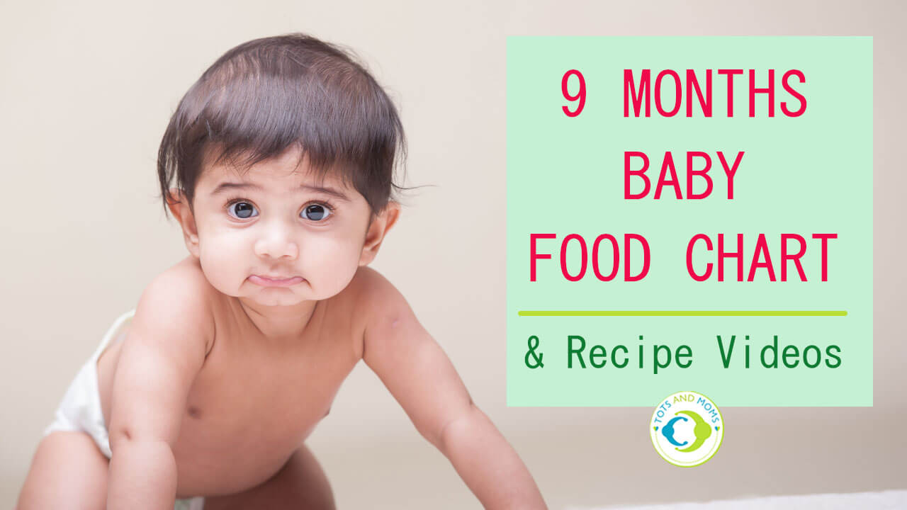 9 months indian baby food chart with recipe videos tots and moms 9 months baby food chart and meal plan forumfinder Images