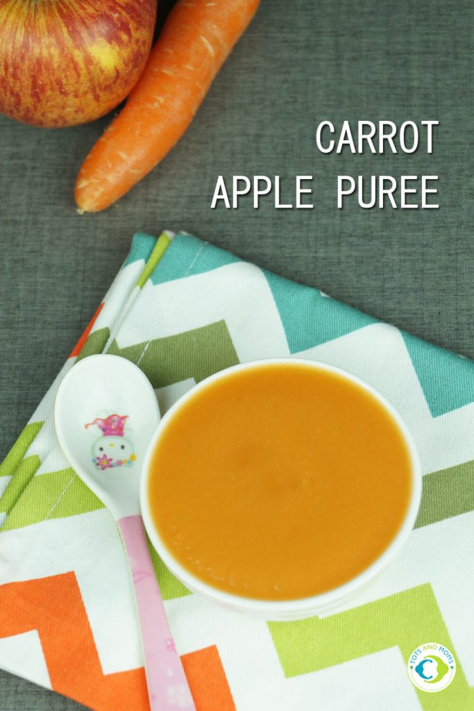 CARROT APPLE PUREE For Babies & Toddlers