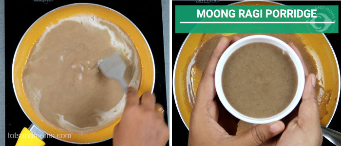 Moong Ragi Porridge Powder for Babies and Toddlers green gram finger millet hindi kannada