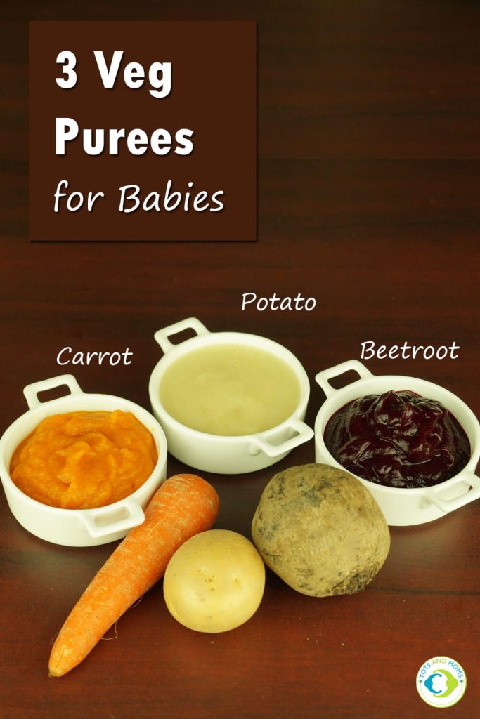 3 VEG PUREES for Babies & Toddlers healthy & tasty