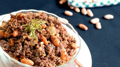 Ragi Upma with Ragi Flakes for babies and toddlers