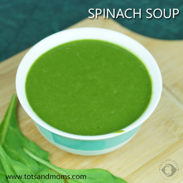 Spinach Soup for Babies and Kids