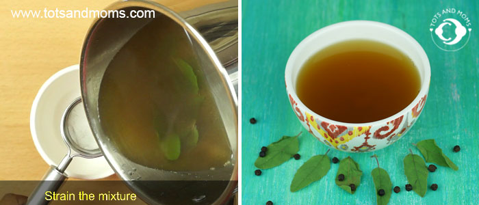 Tulsi Kashaya cough and cold home remedy for baby kid child