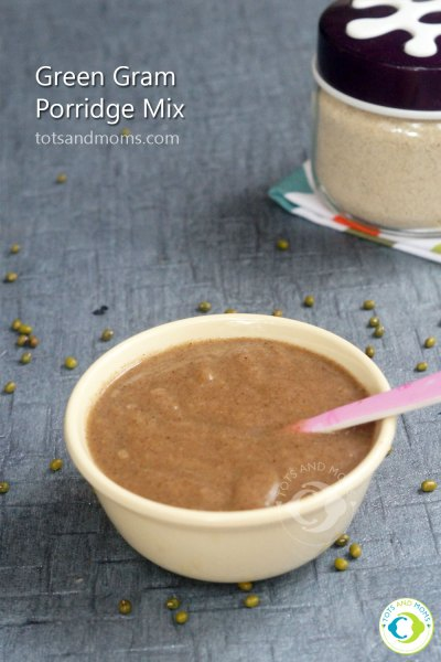 Green Gram Porridge Recipe for Babies Moong Ragi Dalia Porridge Hindi Kannada