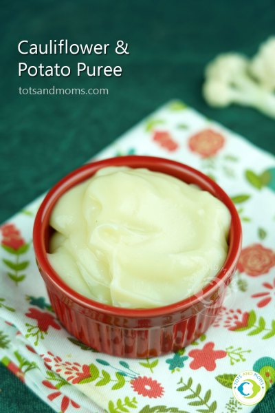 Cauliflower Potato Puree for babies above 8months weight gaining foods healthy and tasty when can I give gobi to my baby