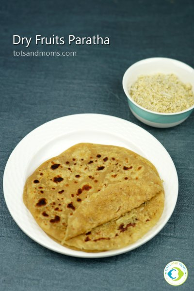 Dry Fruits Paratha for Toddlers and Kids Nutrition Filled Snack Box recipe 1 year plus kids health and tasty dry fruits paratha