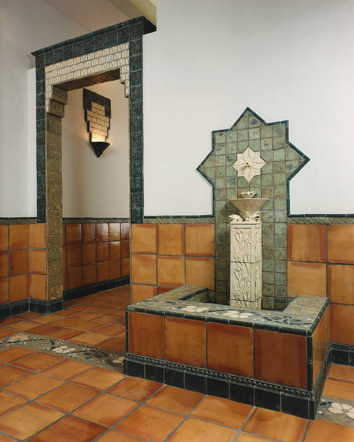 arts and crafts tile lobby totten
