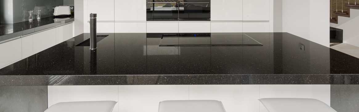Black Quartz Worktop in London