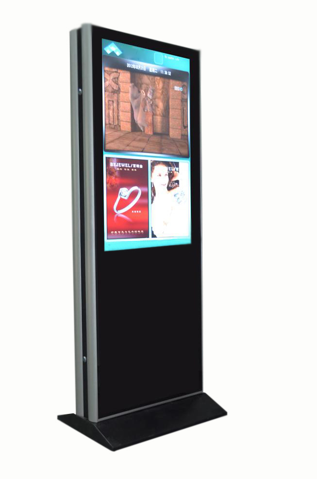 "Vertical Touchscreen indoor Dual 55"" (Schrägansicht)"