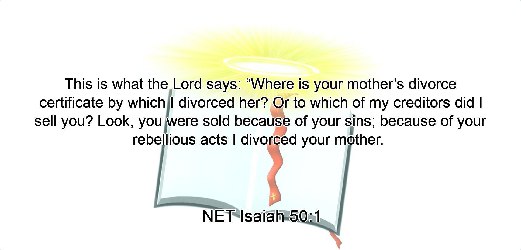 Image result for Isaiah 50:1 KJV