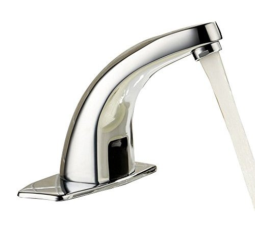 MANCEL Automatic Sensor Touchless Bathroom Sink Faucet with Hole ...
