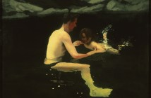 Melanie and Me Swimming, 1978–79, Michael Andrews