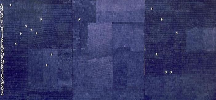 Alighiero Boetti Alighiero e Boetti, 1982 ball point pen ink on paper (101.5 x 214.5 cm)
