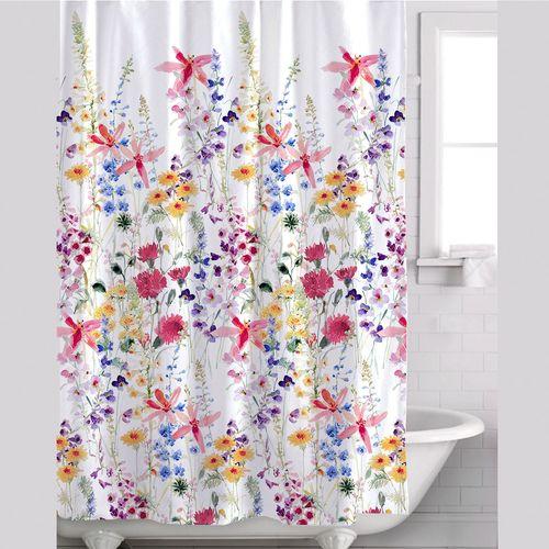 julie wildflowers floral shower curtain