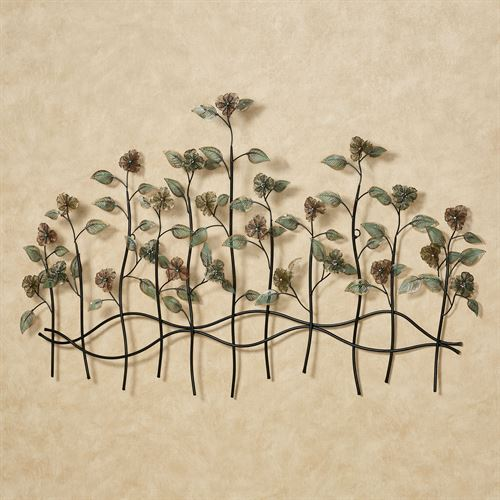 Dainty Flowers Metal Wall Sculpture