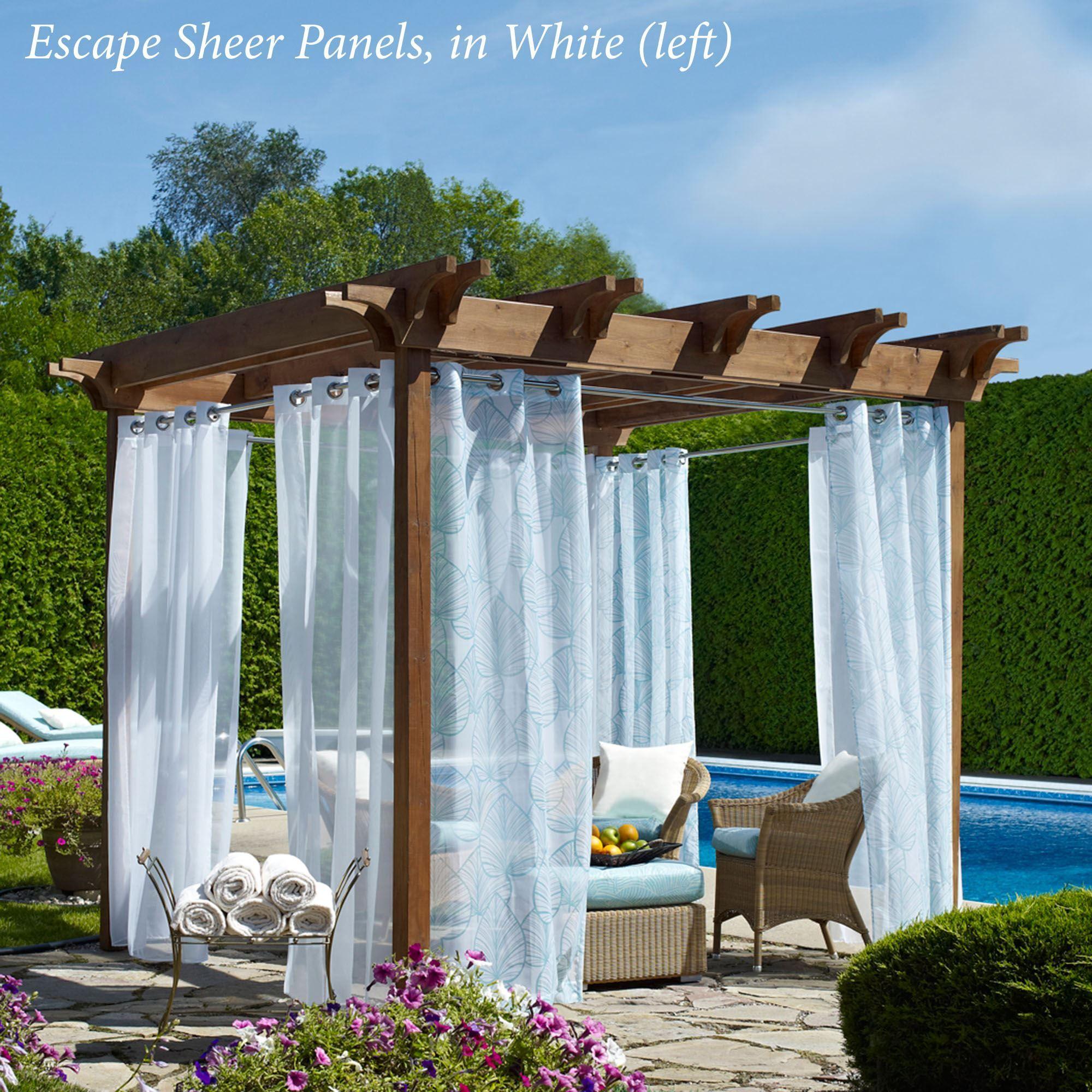 escape outdoor sheer grommet panel