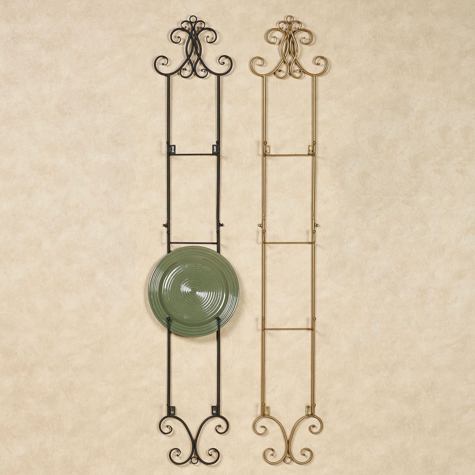 metal scroll wall mount plate rack