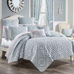 Claremont Medallion Powder Blue Mini Quilt Set Bedding By Royal Court