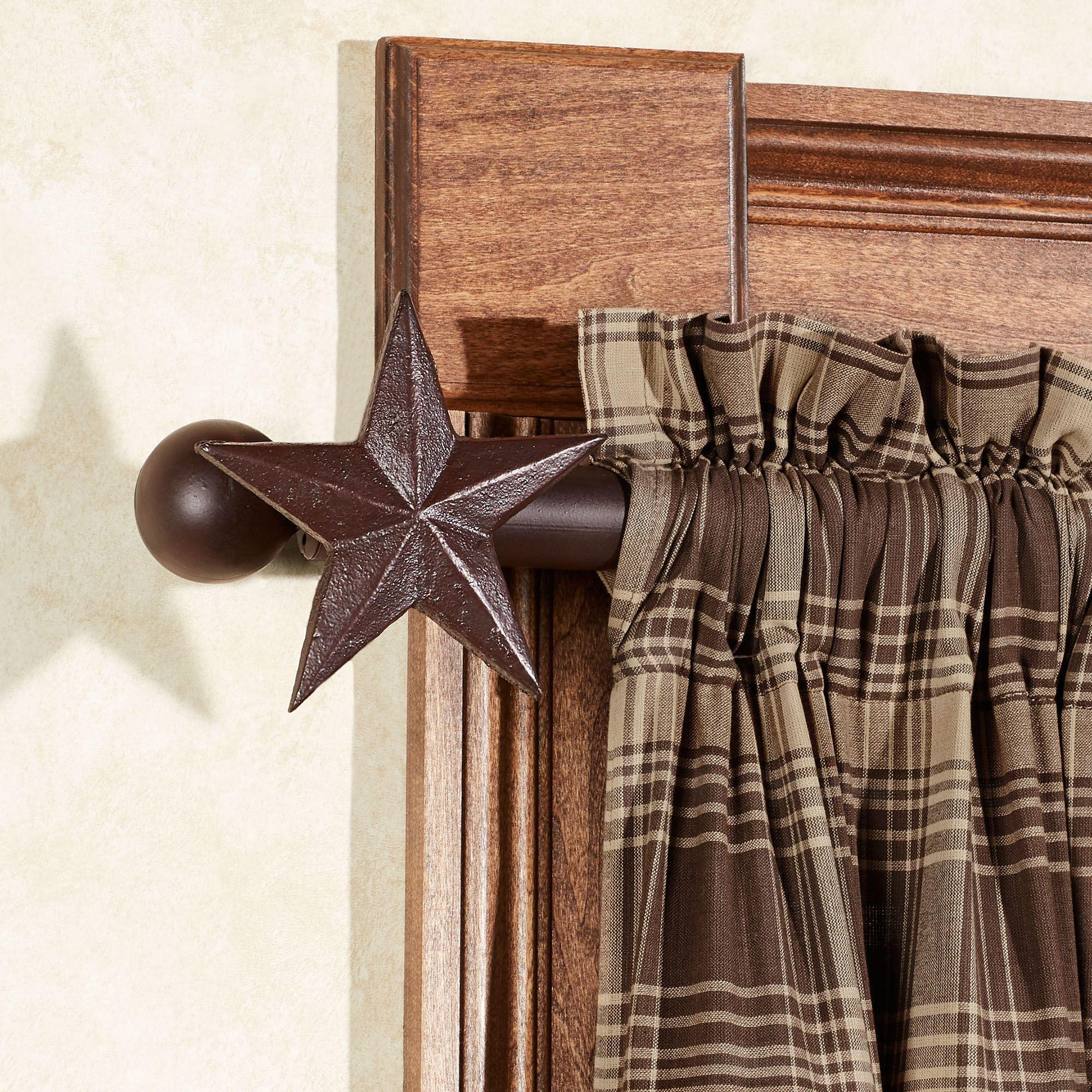 star decorative curtain rod set