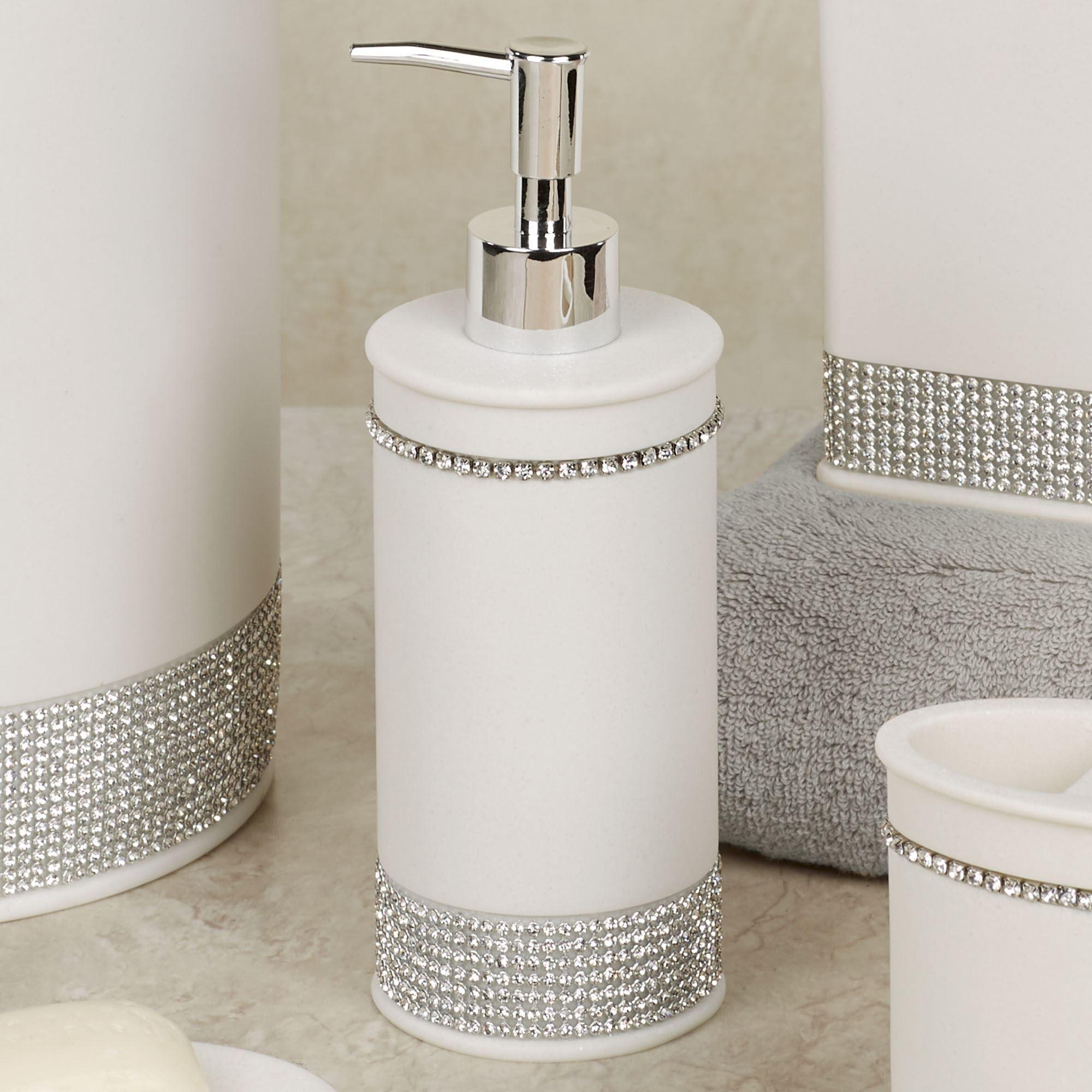 milo rhinestone ivory bath accessories
