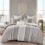Imani Ii Gray Geometric Mini Comforter Set Bedding By Ink Ivy