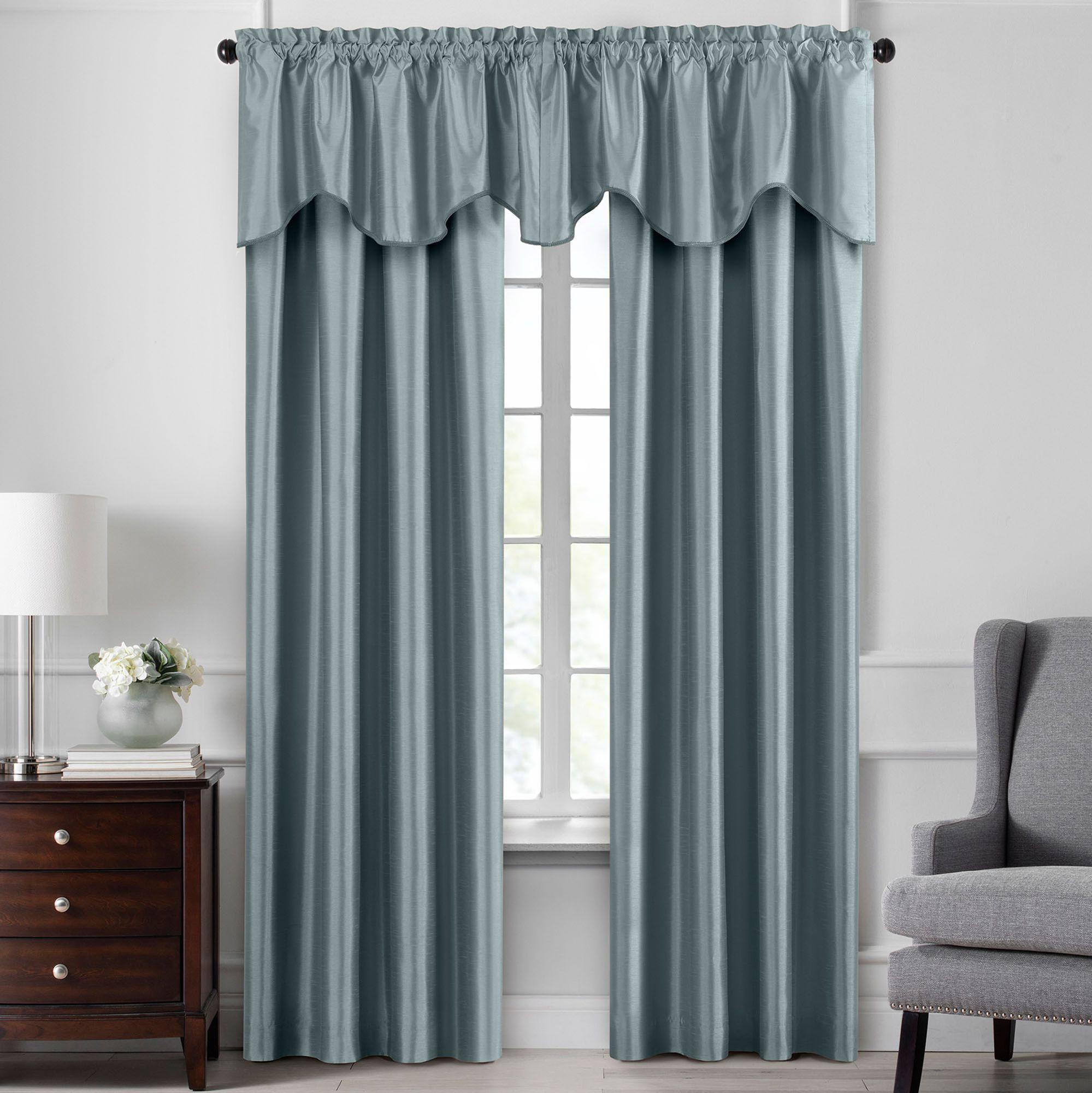 luverne faux silk room darkening thermal window treatment