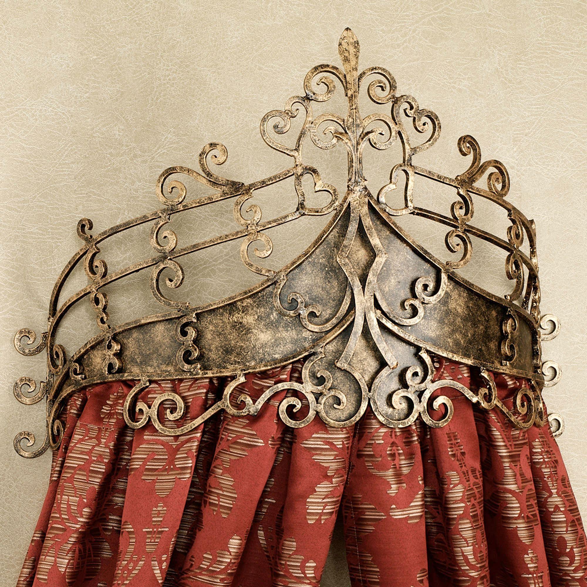 Alexandria Crown Iron Wall Teester Bed Crown on Wall Teester Bed Crown  id=41534
