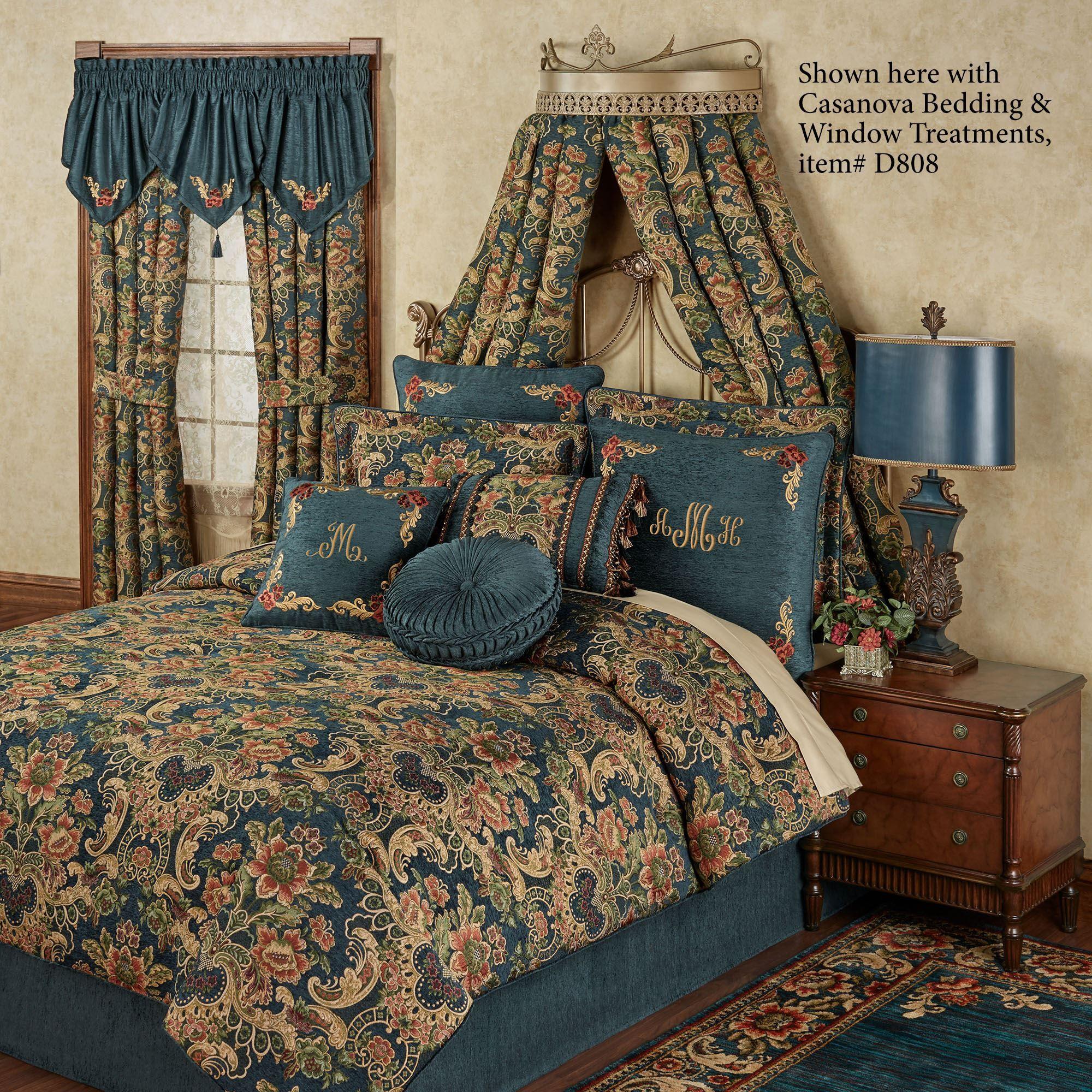 Brocie Satin Gold Fleur de Lis Wall Teester Bed Crown on Wall Teester Bed Crown  id=89155