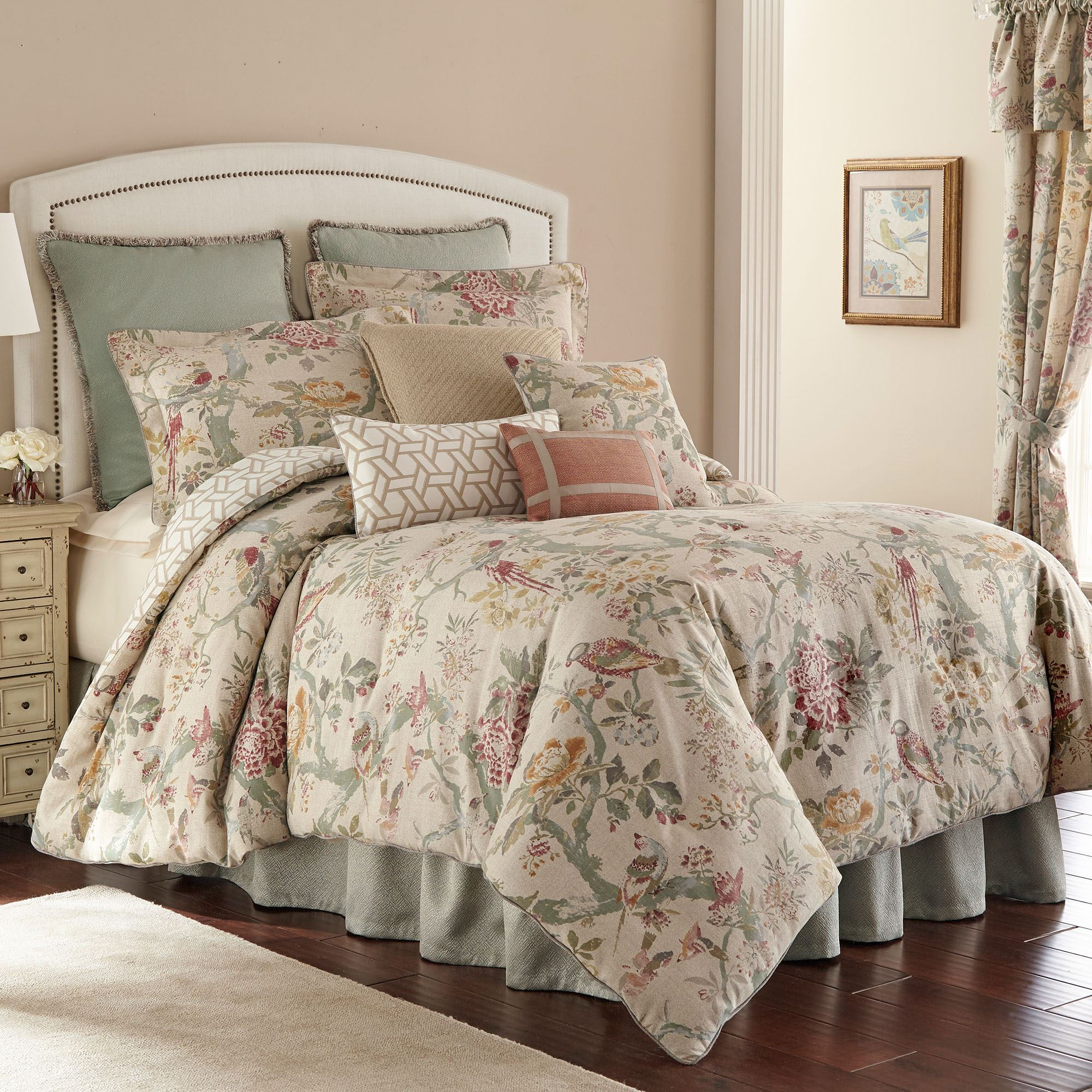 bicarri vintage style nature floral comforter bedding by rose tree
