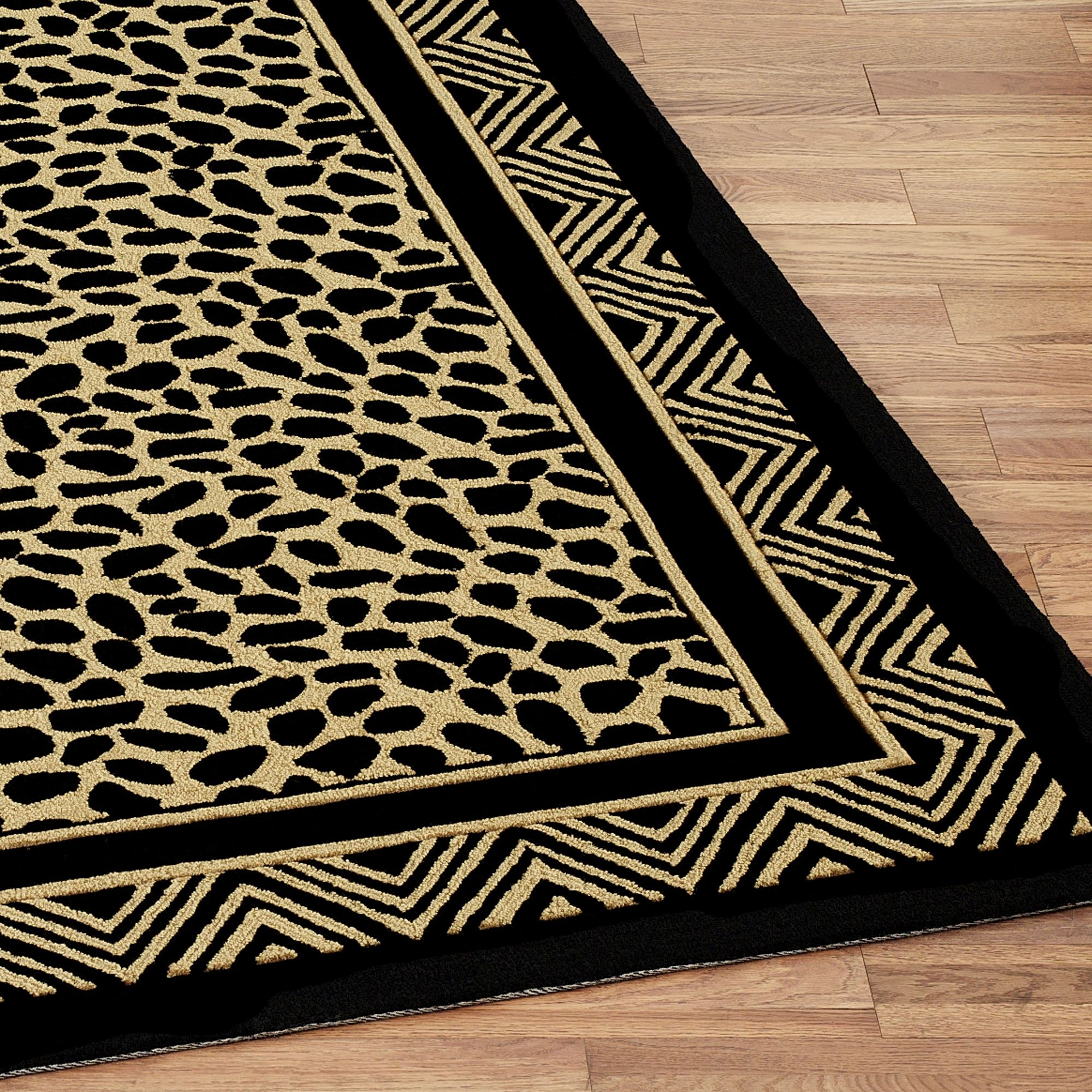 Wild Leopard Print Hooked Area Rugs | Leopard Carpet On Stairs | Diamond Pattern | Fawn | Stark | Carpeted | Striped