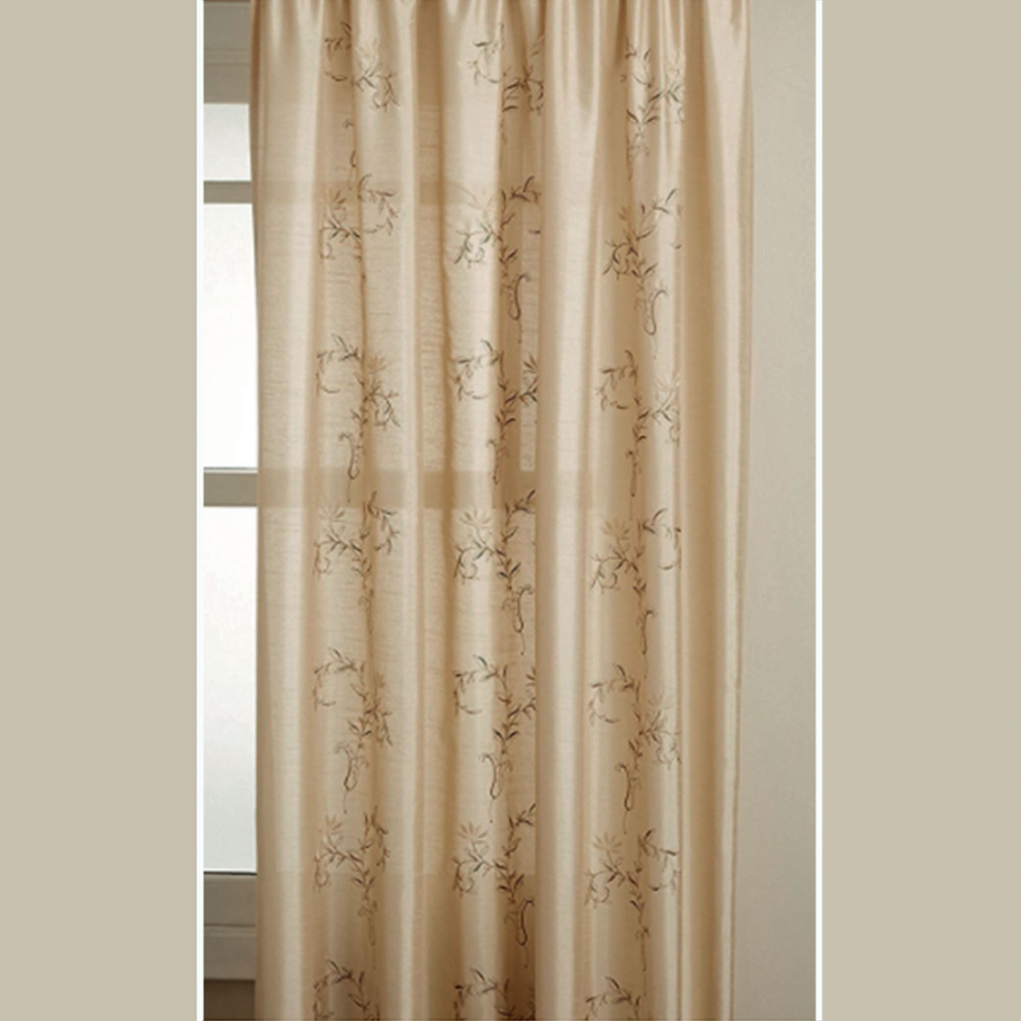 hawthorne embroidered curtain panel
