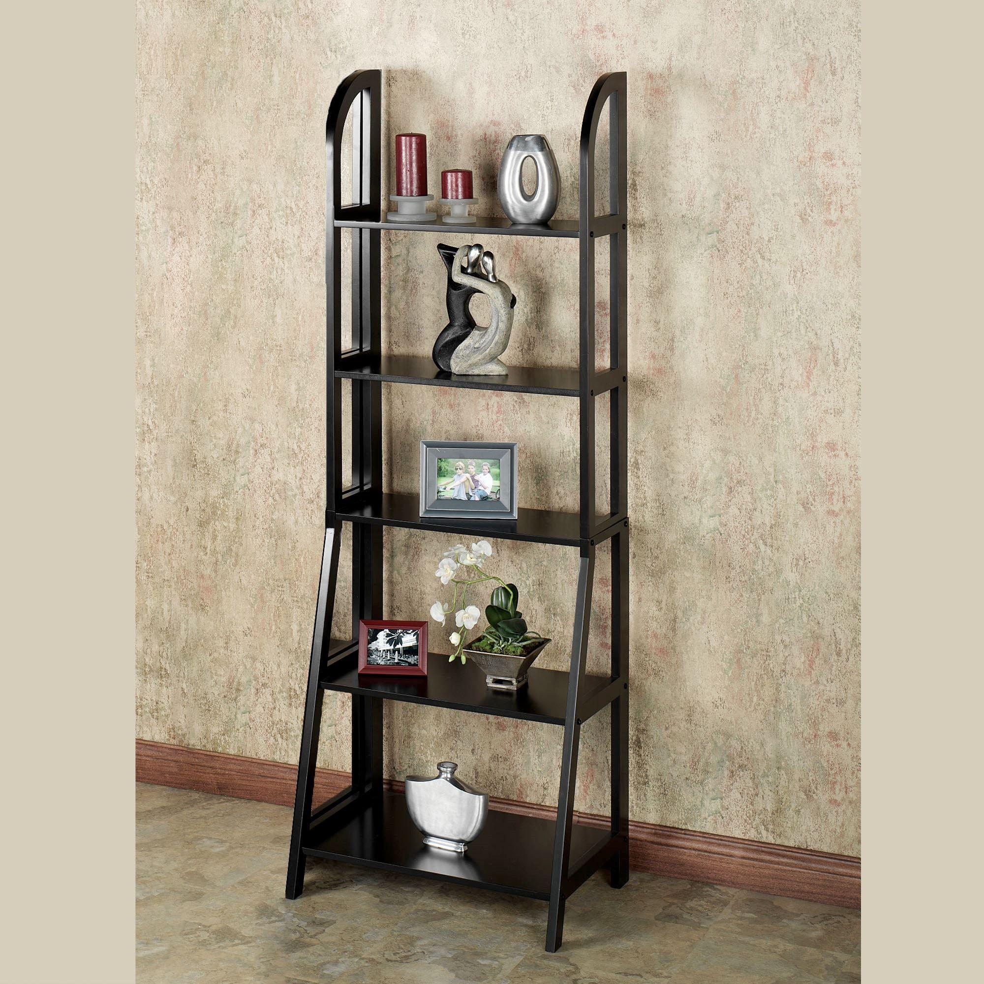 Kimber Black Ladder And Corner Shelves
