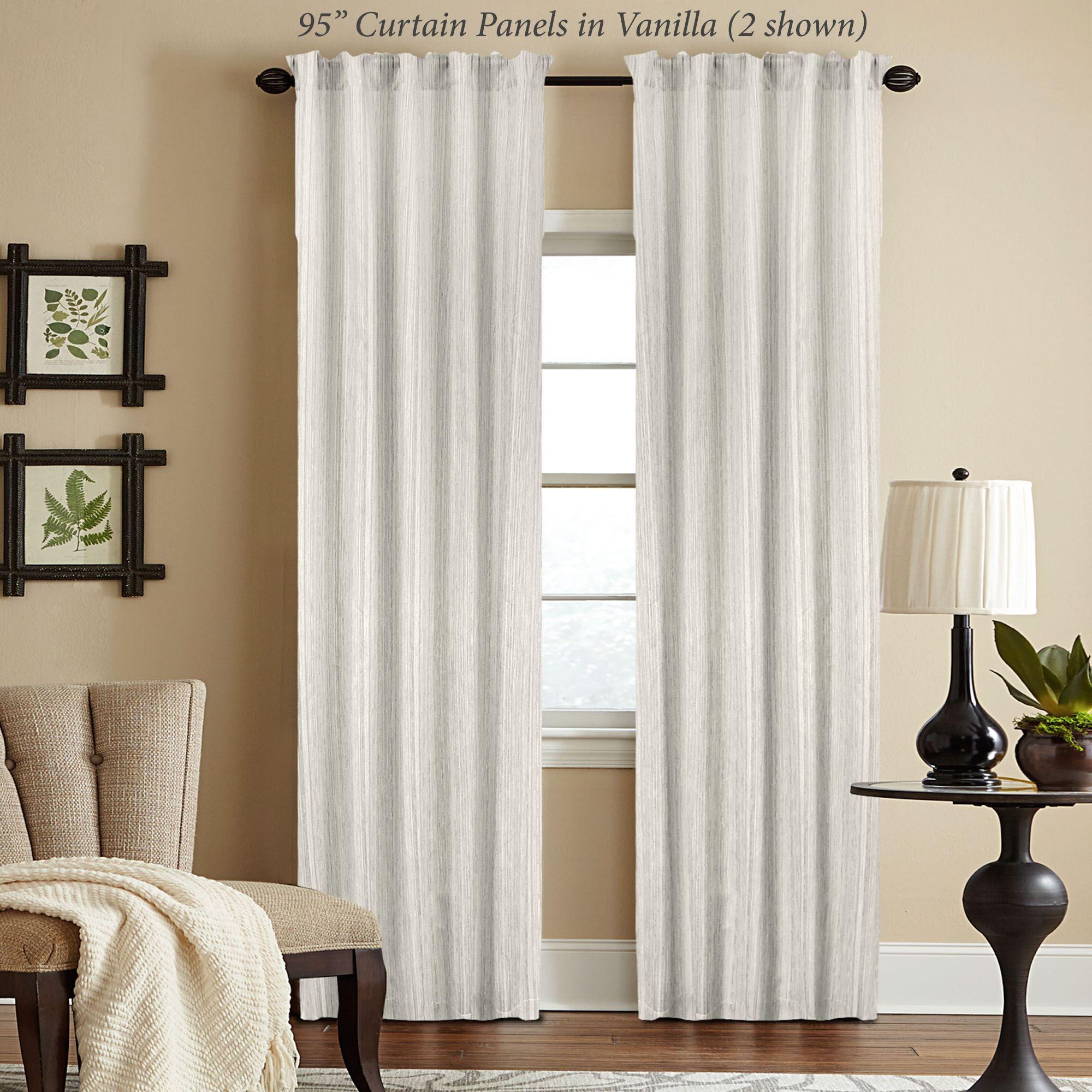 woodrow semi sheer 95 long tailored curtain panel