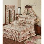 Heirloom Rose Floral Ruffled Grande Bedspread
