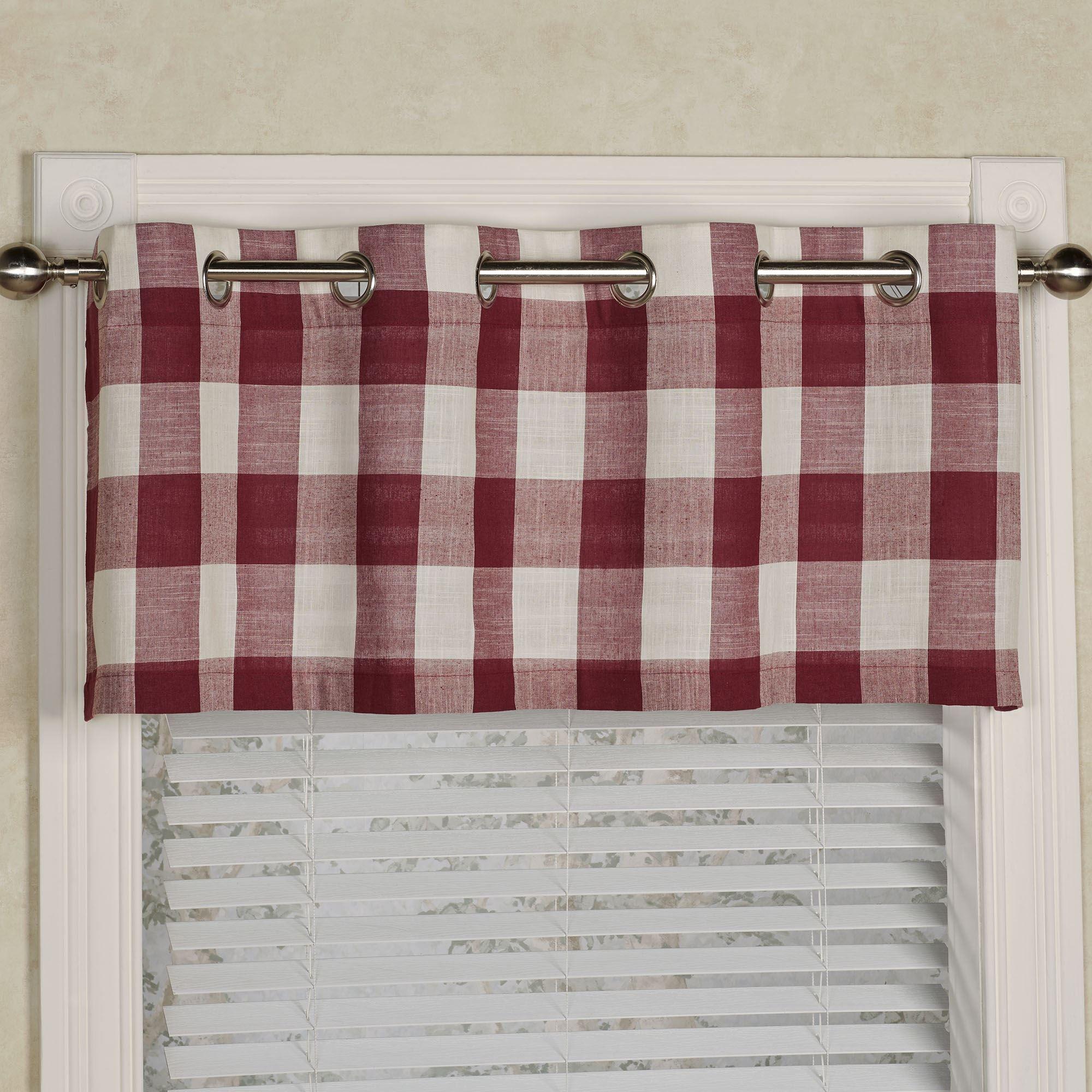 Checkerboard Grommet Window Valance
