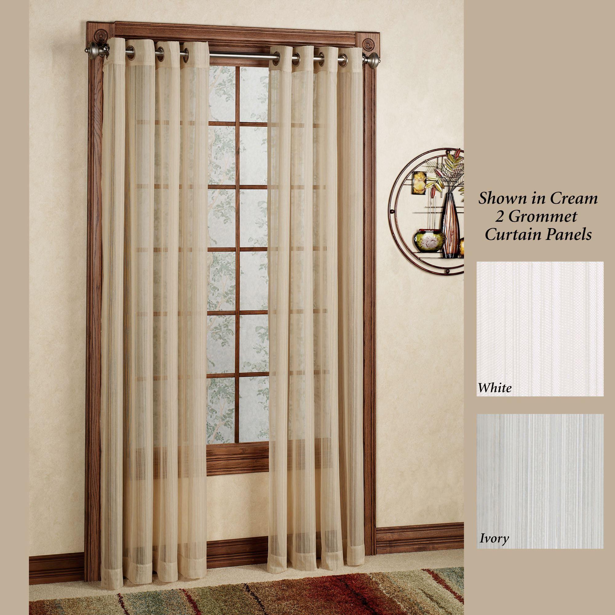 atlantic stripe semi sheer grommet curtain panel