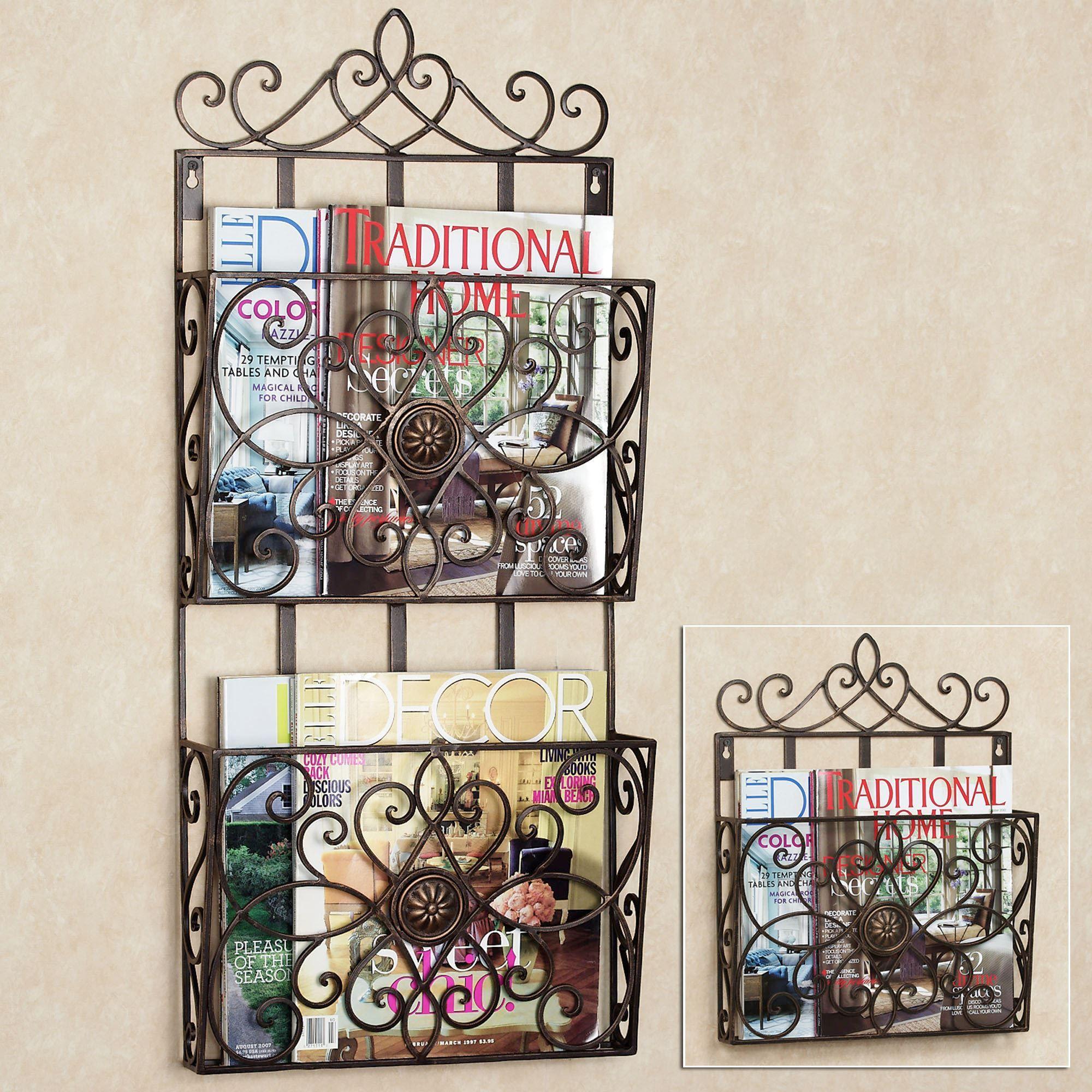 arezzio wall magazine rack